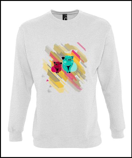 """Universalus džemperis """"Pigs In RainbowUniversalus džemperis """"New supreme'', Marskineliai.lt, susikurkite savo marškinėlius"""