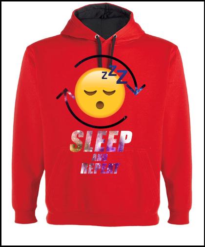 """Vyriškas džemperis Rolly """"SLEEP AND REPEAT"""", Marskineliai.lt, susikurkite savo marškinėlius"""
