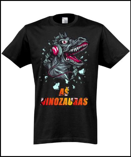 """Universalūs marškinėliai """"Aš dinozauras."""", Marskineliai.lt, susikurkite savo marškinėlius"""