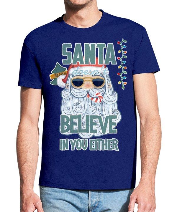 """Vyriški marškinėliai """"Kalėdų senelis"""" , marskineliai su spauda, marskineliai su uzrasu, kalediniai marskineliai, dovana kaledoms"""