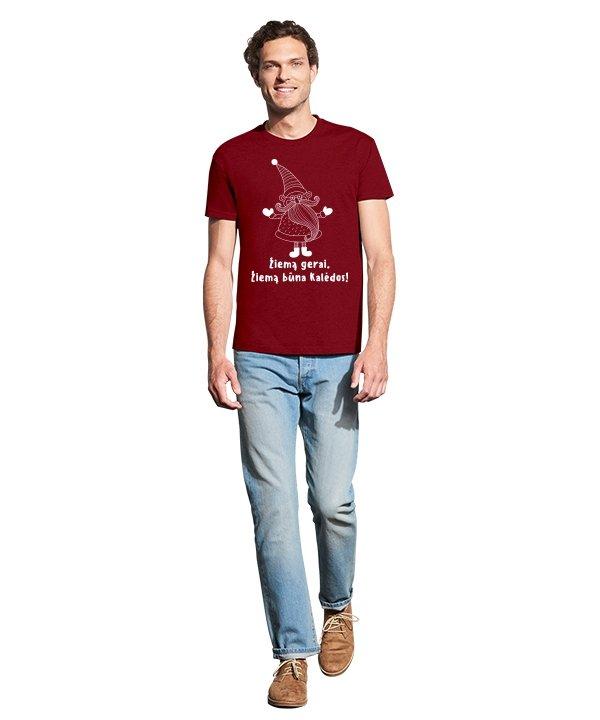 Vyriški marškinėliai, marskineliai su spauda, marskineliai su uzrasu, kalediniai marskineliai, dovana kaledoms,kaledos