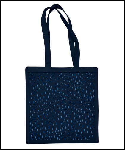 """Medvilninis pirkinių krepšys """"Blue Day"""", Marskineliai.lt, susikurkite savo marškinėlius"""