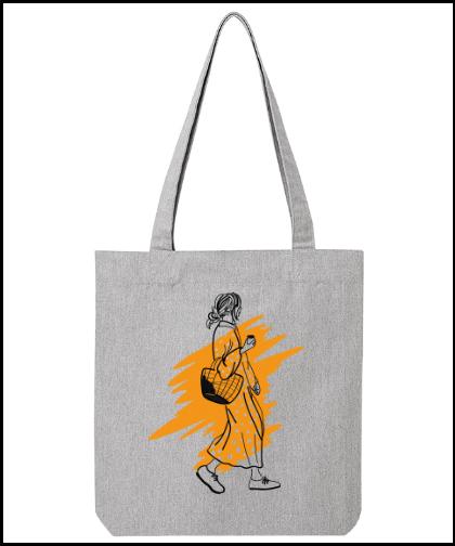 """Universalus drobinis krepšys """"Yellow"""", Marskineliai.lt, susikurkite savo marškinėlius"""