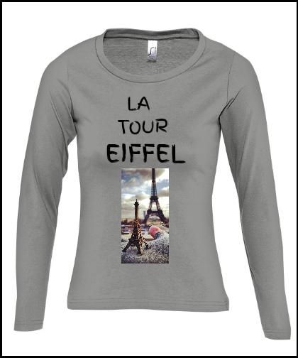 """Moteriški marškinėliai """"La tor Eiffel"""", Marskineliai.lt, susikurkite savo marškinėlius"""