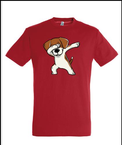 """Universalūs marškinėliai """"Regent Beagle Red"""", Marskineliai.lt, susikurkite savo marškinėlius"""