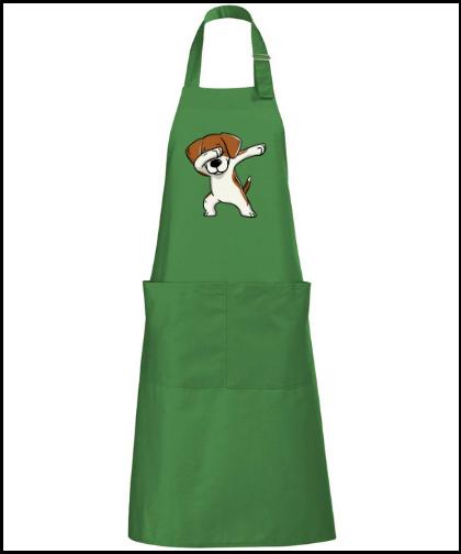 """Universali, ilga prijuostė """"Gala Beagle Green"""" su kišenėmis, Marskineliai.lt, susikurkite savo marškinėlius"""