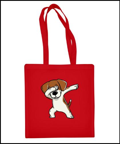 """Medvilninis pirkinių krepšys """"Jazz Beagle """", Marskineliai.lt, susikurkite savo marškinėlius"""
