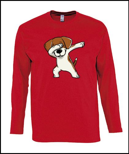 """Vyriški marškinėliai """"Monarch Beagle Red"""", Marskineliai.lt, susikurkite savo marškinėlius"""