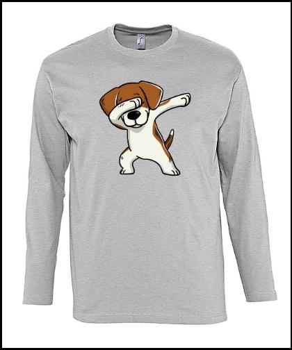 """Vyriški marškinėliai """"Monarch Beagle Grey"""", Marskineliai.lt, susikurkite savo marškinėlius"""