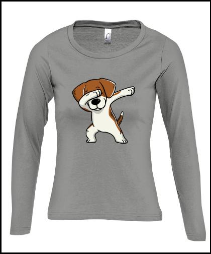 """Moteriški marškinėliai """"Majestic Beagle Grey"""", Marskineliai.lt, susikurkite savo marškinėlius"""