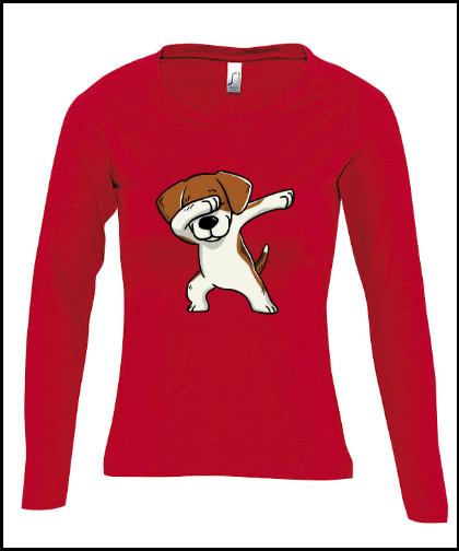 """Moteriški marškinėliai """"Majestic Beagle Red"""", Marskineliai.lt, susikurkite savo marškinėlius"""