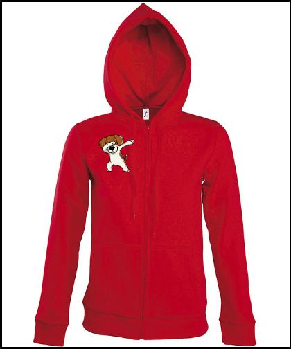 """Moteriškas džemperis """"Swomen Beagle Red"""", Marskineliai.lt, susikurkite savo marškinėlius"""
