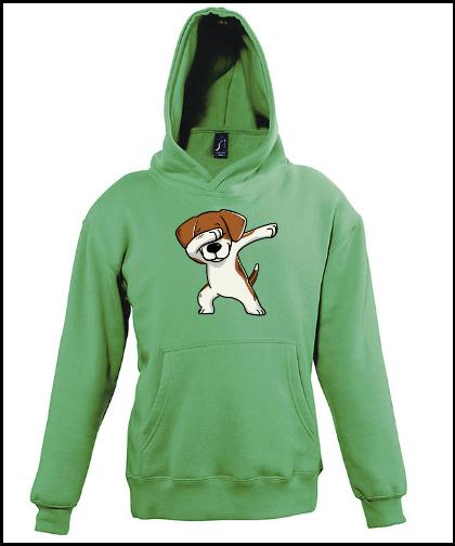 """Vaikiški džemperiai """"Skids Beagle Green"""", Marskineliai.lt, susikurkite savo marškinėlius"""