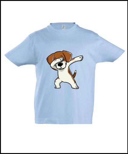 """Vaikiški marškinėliai """"Kids Beagle Blue"""", Marskineliai.lt, susikurkite savo marškinėlius"""