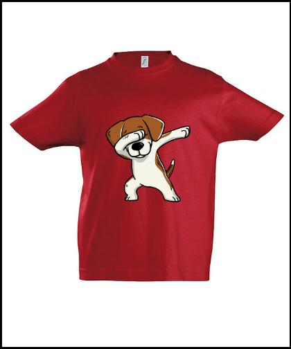 """Vaikiški marškinėliai """"Kids Beagle Red"""", Marskineliai.lt, susikurkite savo marškinėlius"""