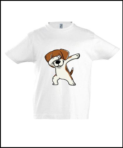 """Vaikiški marškinėliai """"Kids Beagle White"""", Marskineliai.lt, susikurkite savo marškinėlius"""