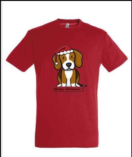 """Universalūs marškinėliai """"BeagChristmas Red"""", Marskineliai.lt, susikurkite savo marškinėlius"""