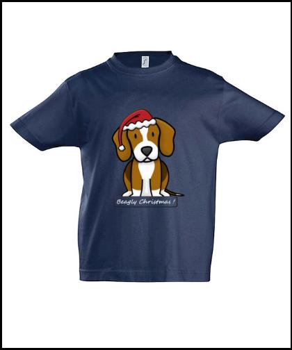 """Vaikiški marškinėliai """"BeagChristmas Dblue"""", Marskineliai.lt, susikurkite savo marškinėlius"""