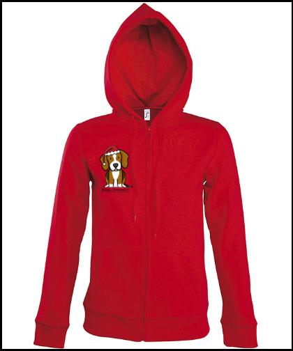 """Moteriškas džemperis """"BeagChristmas Red"""", Marskineliai.lt, susikurkite savo marškinėlius"""