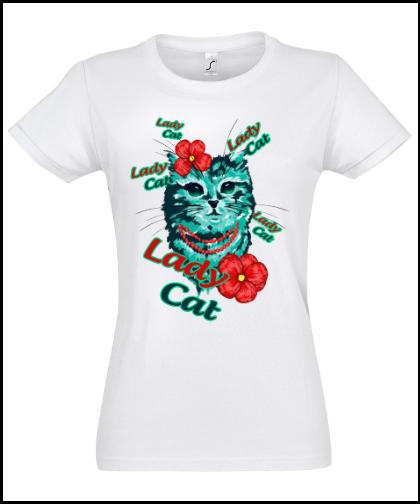 """Moteriški marškinėliai """"Kitty Cat"""", Marskineliai.lt, susikurkite savo marškinėlius"""