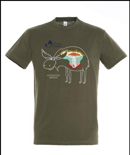 """Universalūs marškinėliai """"Musmirinis Briedis"""", Marskineliai.lt, susikurkite savo marškinėlius"""