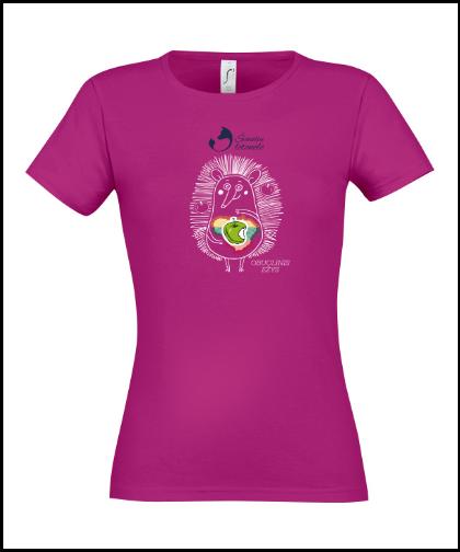 """Moteriški marškinėliai """"Obuolinis Ežys"""", Marskineliai.lt, susikurkite savo marškinėlius"""