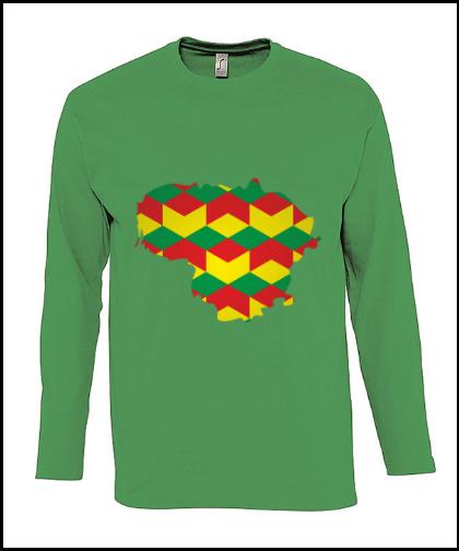 """Vyriški marškinėliai """"Lietuvos konturas"""", Marskineliai.lt, susikurkite savo marškinėlius"""