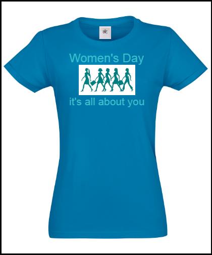 """Moteriški marškinėliai """"Women's day"""", Marskineliai.lt, susikurkite savo marškinėlius"""
