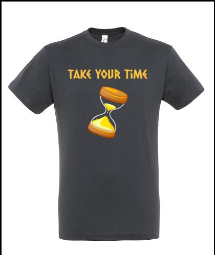 """Universalūs marškinėliai """"Take your Time"""", Marskineliai.lt, susikurkite savo marškinėlius"""