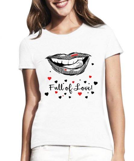 """Moteriški marškinėliai """"Lūpos"""" , marskineliai su spauda, originalus marskineliai, marskineliai su uzrasu, valentino dienos dovana"""