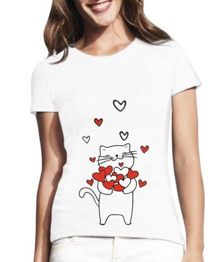 """Moteriški marškinėliai """"Meilės lietus"""" , marskineliai su spauda, marskineliai su uzrasu, valentino dienos marskineliai, valentino dienos dovana"""