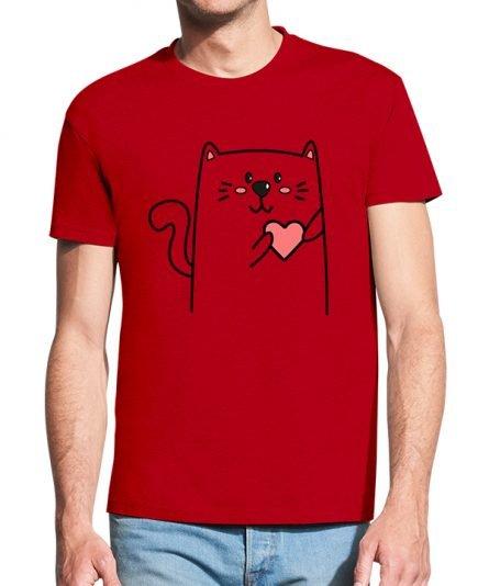 """Vyriški marškinėliai """"Kačiukų pora"""" , marskineliai su spauda, marskineliai poroms su uzrasu, dovana valentino dienos proga"""