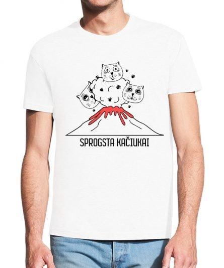 """Vyriški marškinėliai """"Sprogsta kačiukai"""" , marskineliai su spauda, marskineliai su uzrasu, marskineliai pavasariui, marskineliai su linksmu uzrasu"""