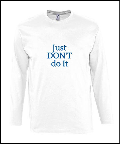 """Vyriški marškinėliai """"Don't do it"""", Marskineliai.lt, susikurkite savo marškinėlius"""
