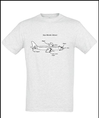 """Universalūs marškinėliai """"How airplanes fly """", Marskineliai.lt, susikurkite savo marškinėlius"""