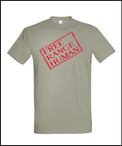 """Universalūs marškinėliai """"FREE RANGE """", Marskineliai.lt, susikurkite savo marškinėlius"""
