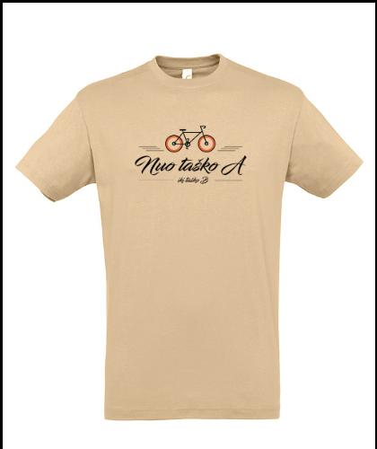 """Universalūs marškinėliai """"Nuo taško A"""", Marskineliai.lt, susikurkite savo marškinėlius"""