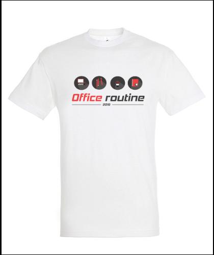 """Universalūs marškinėliai """"Office routine"""", Marskineliai.lt, susikurkite savo marškinėlius"""