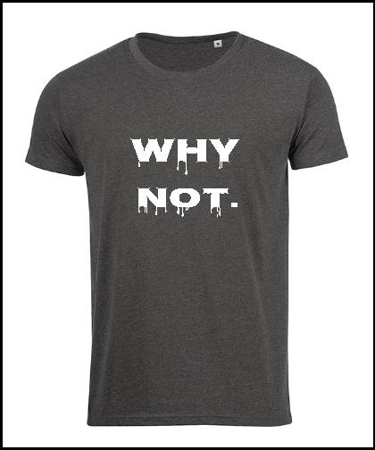 """Vyriški marškinėliai """"WHY NOT."""", Marskineliai.lt, susikurkite savo marškinėlius"""