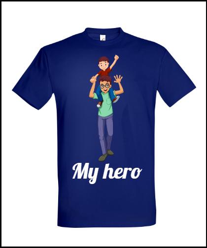 """Universalūs marškinėliai """"My hero"""", Marskineliai.lt, susikurkite savo marškinėlius"""