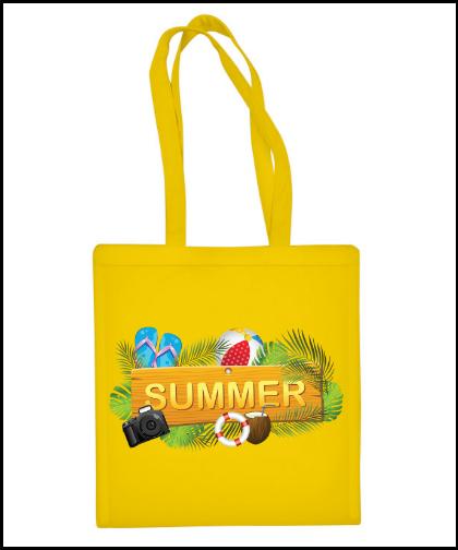 """Medvilninis pirkinių krepšys """"Summer"""", Marskineliai.lt, susikurkite savo marškinėlius"""