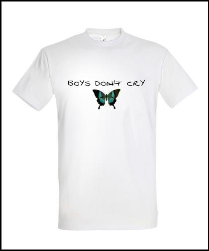 """Universalūs marškinėliai """"Boys Do Cry"""", Marskineliai.lt, susikurkite savo marškinėlius"""