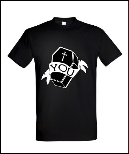 """Universalūs marškinėliai """"Coffin"""", Marskineliai.lt, susikurkite savo marškinėlius"""