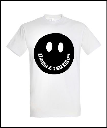 """Universalūs marškinėliai """"I Hate You"""", Marskineliai.lt, susikurkite savo marškinėlius"""