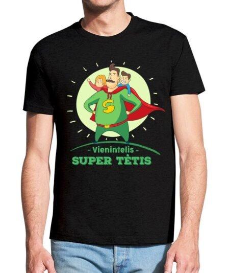 """Vyriški marškinėliai su spauda """"Vienintelis super tėtis"""""""