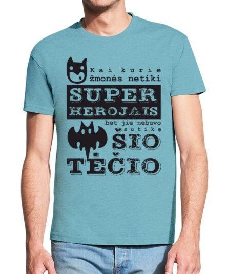 """Vyriški marškinėliai su spauda """"tėtis super herojus"""""""