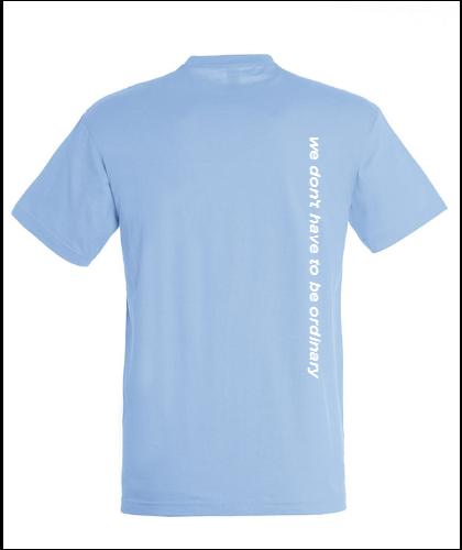 """Universalūs marškinėliai """"unordinary blue"""", Marskineliai.lt, susikurkite savo marškinėlius"""