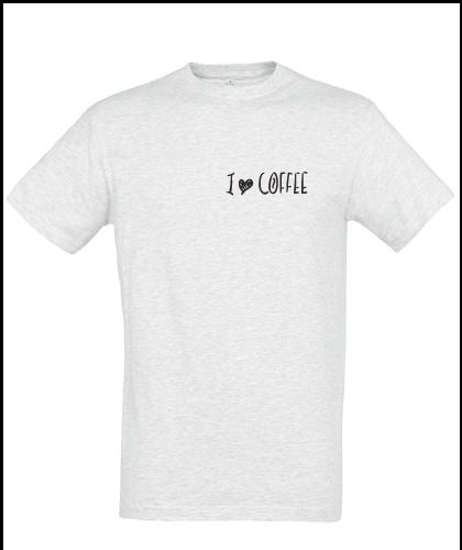 """Universalūs marškinėliai """"I love coffee"""", Marskineliai.lt, susikurkite savo marškinėlius"""