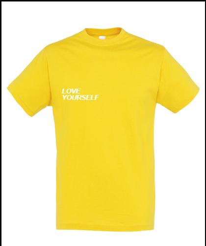 """Universalūs marškinėliai """"Love yourself"""", Marskineliai.lt, susikurkite savo marškinėlius"""