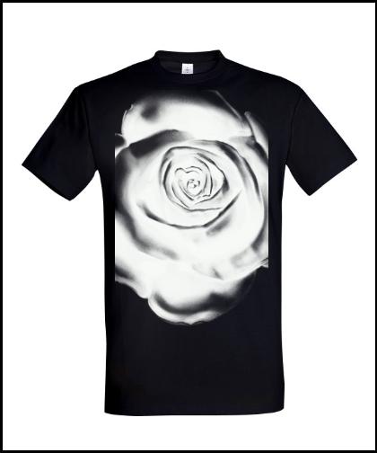 """Universalūs marškinėliai """"White rose"""", Marskineliai.lt, susikurkite savo marškinėlius"""
